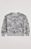 Girls Audrey Rose Camo - Long Sleeve - Heather Grey