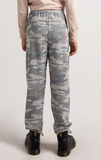 Girls Bella Rose Camo Jogger Heather Grey