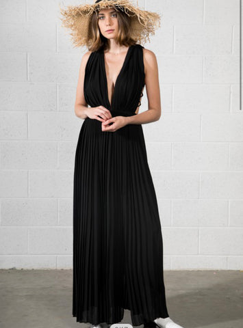 Sides Out Pleated Maxi