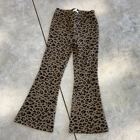 Girls Max Leopard Pant Toffee