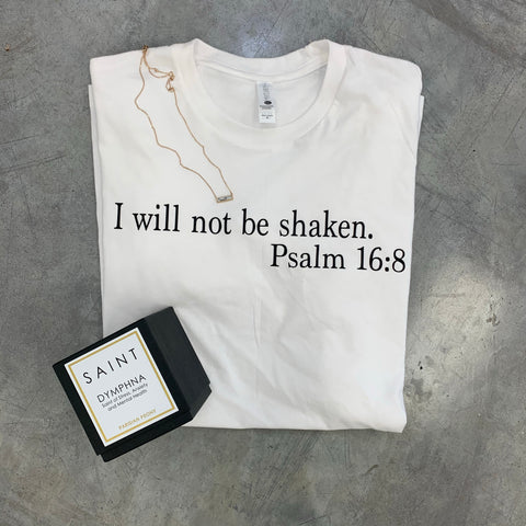 I Will Not Be Shaken Tee x HK