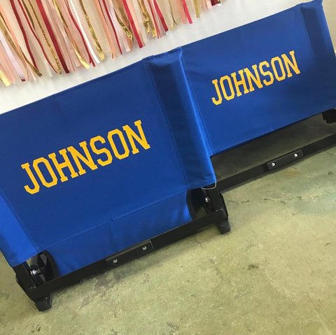 Personalized Stadium Seat