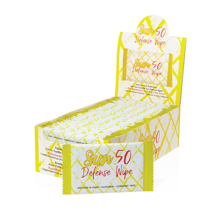 World Amenities - Sun Defense Wipe Retail Box