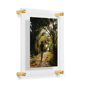 Double Panel Acrylic Wall Frame - Gold