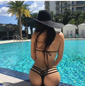 StrappyThong Bikini With Lace (The Johanie Bottom) Bikini Bottoms Only
