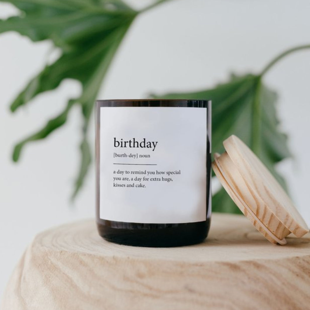Dictionary Meaning Soy Candle - Birthday