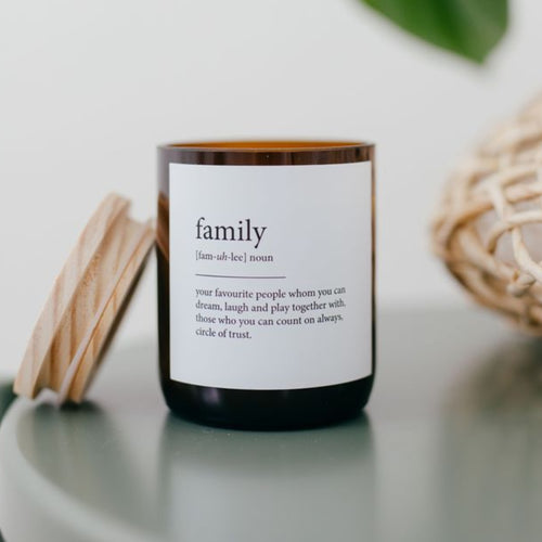 Dictionary Meaning Soy Candle - Family