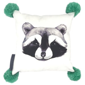 Rolf Raccoon Cushion