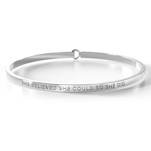 She Believed She Could So She Did - Clasp Bangle