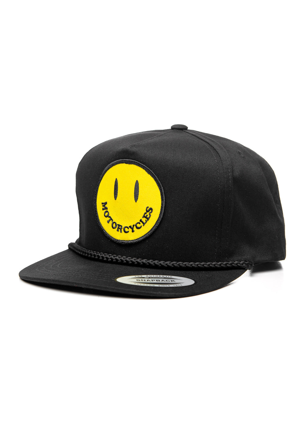 Smiley Snapback Cap Black