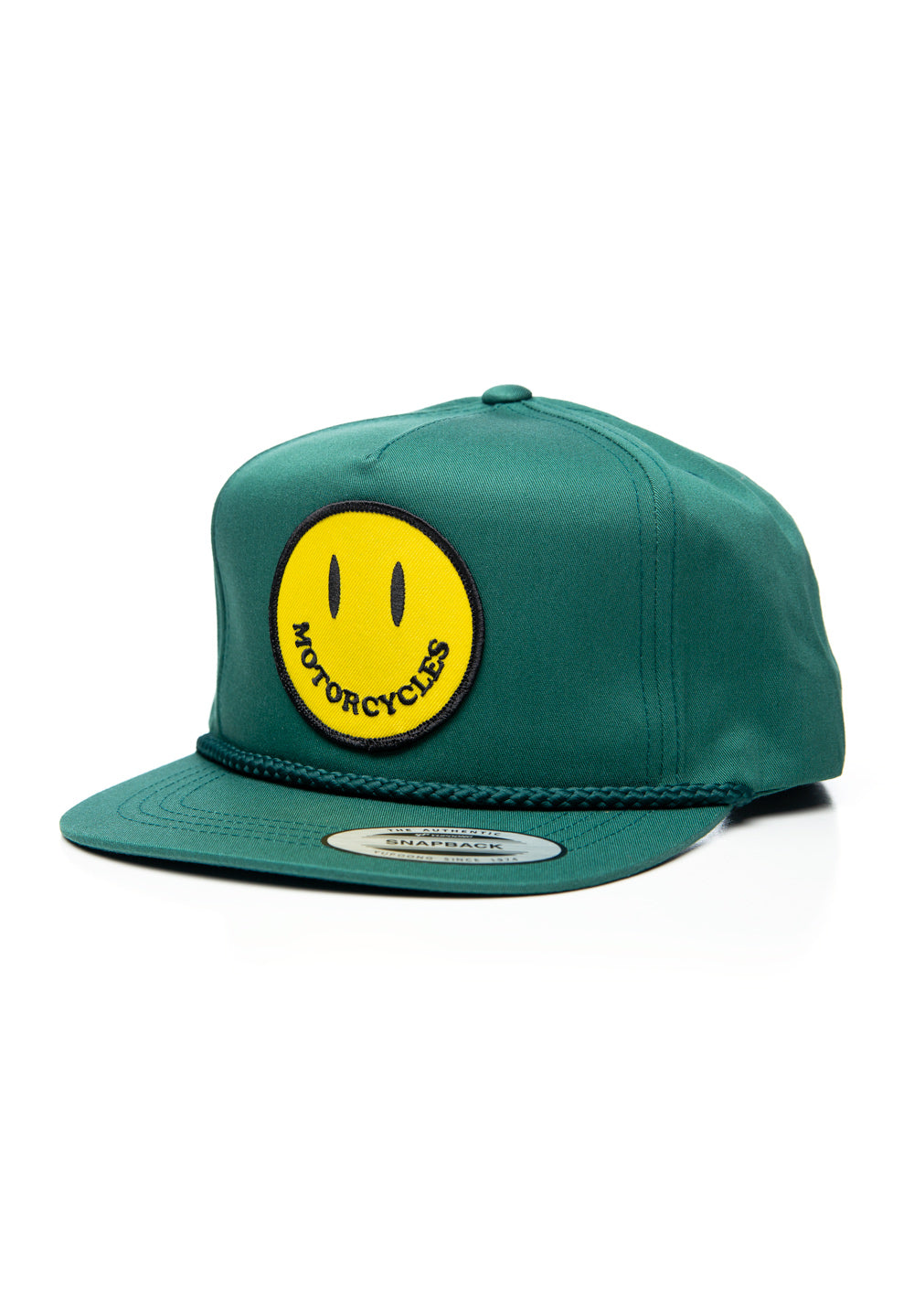 Smiley Snapback Cap Green