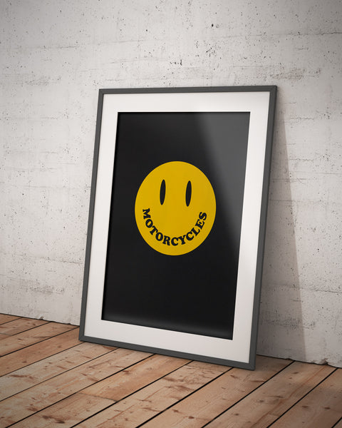 'Smiley' Screen Printed Poster