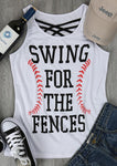 Swing For The Fences Criss-Cross Tank