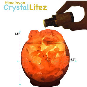 Sphere Salt Lamp Diffuser With Dimmer Cord