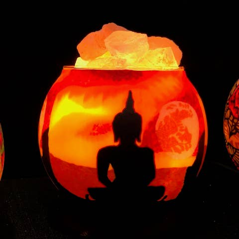 Buddha Salt Lamp Diffuser With Dimmer Cord