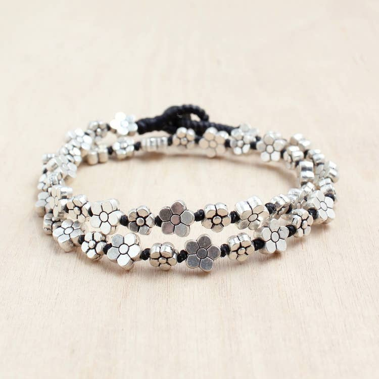 Alloy Flower Wrap Bracelet