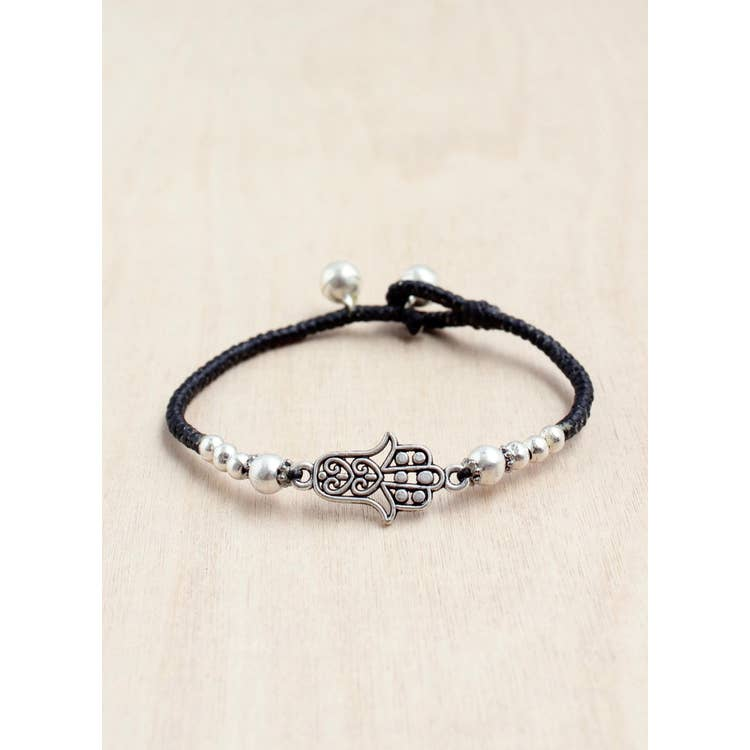 Hamsa Single Charm Alloy Bracelet