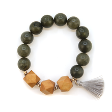 Load image into Gallery viewer, Influence bead stretch wood bracelet