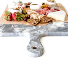 Load image into Gallery viewer, Grey, White & Silver Cheeseboards