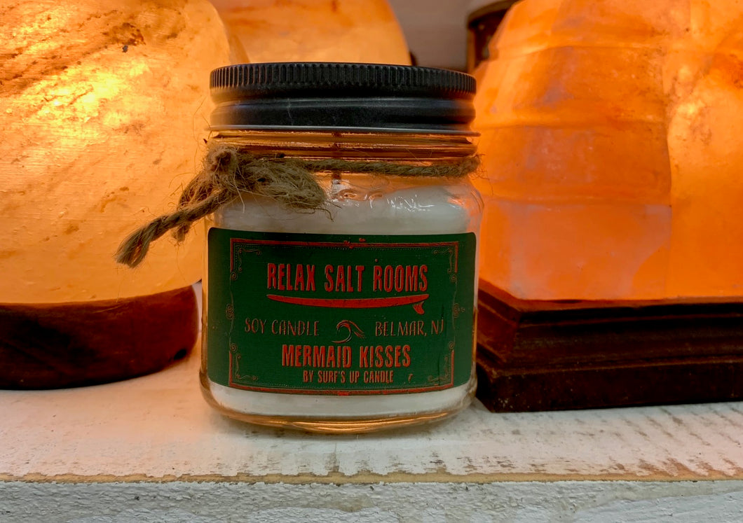 Mermaid Kisses Mason Jar Candle  8 oz