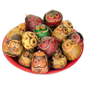 Owls Mini - Gourd Ornament