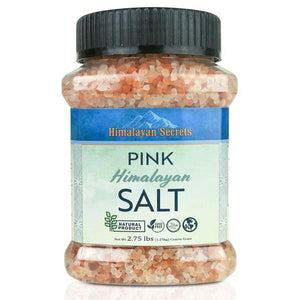 2.75 LB Jar Edible Himalayan Dark Pink Salt Coarse