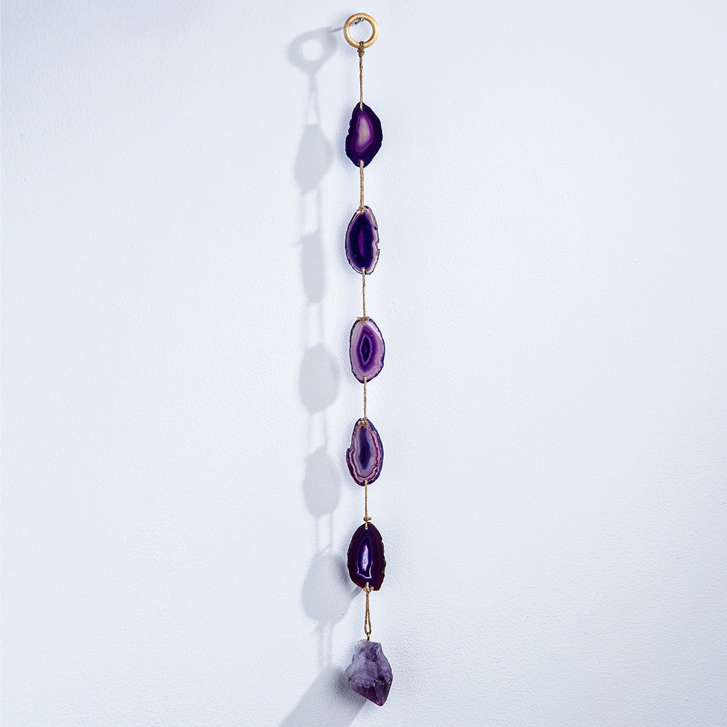 Purple Agate Wall Hanging