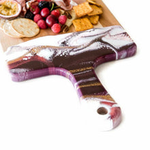 Load image into Gallery viewer, Raspberry, White & Gold Cheeseboards