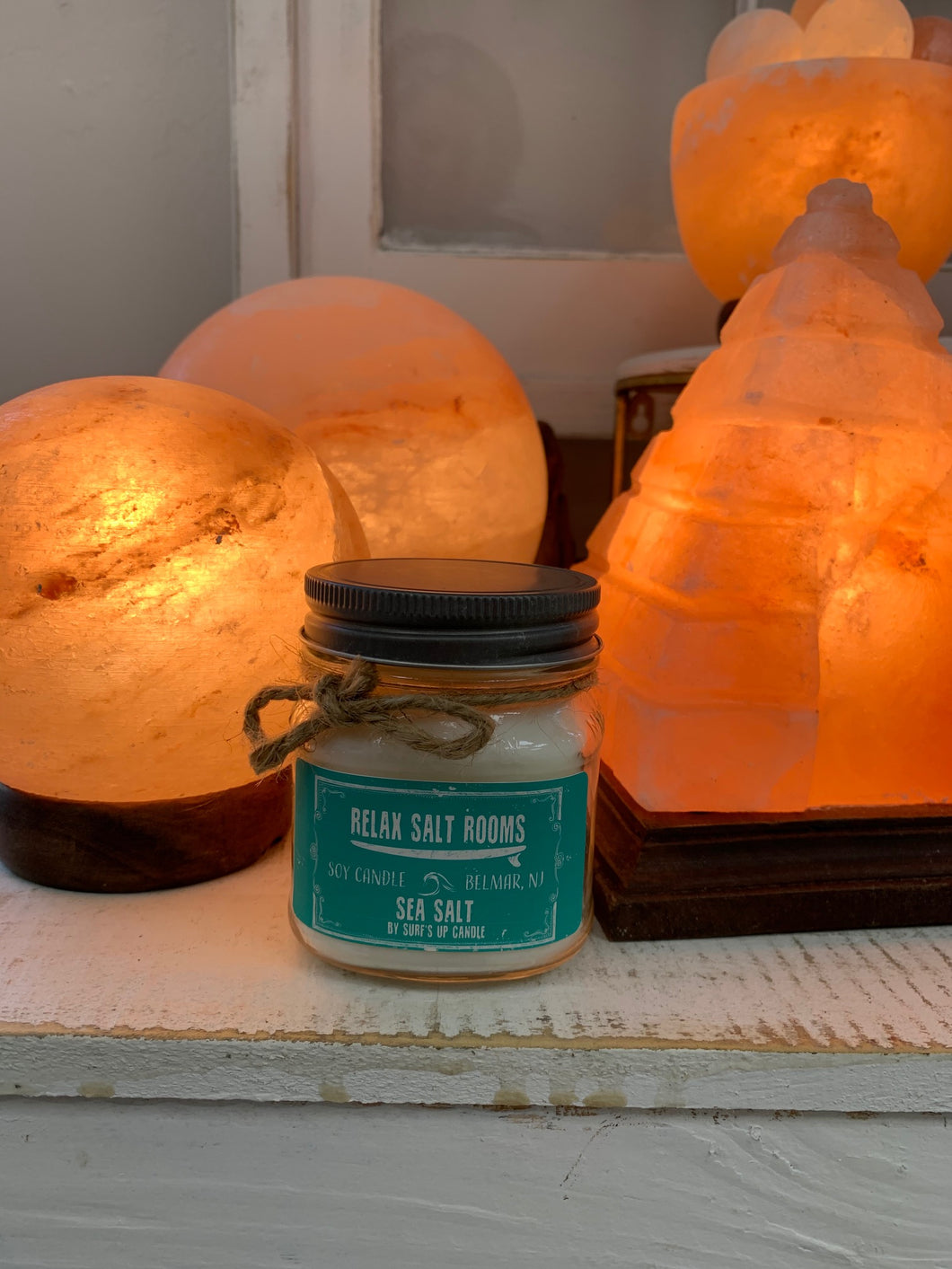 Sea Salt Mason Jar Candle  8 oz