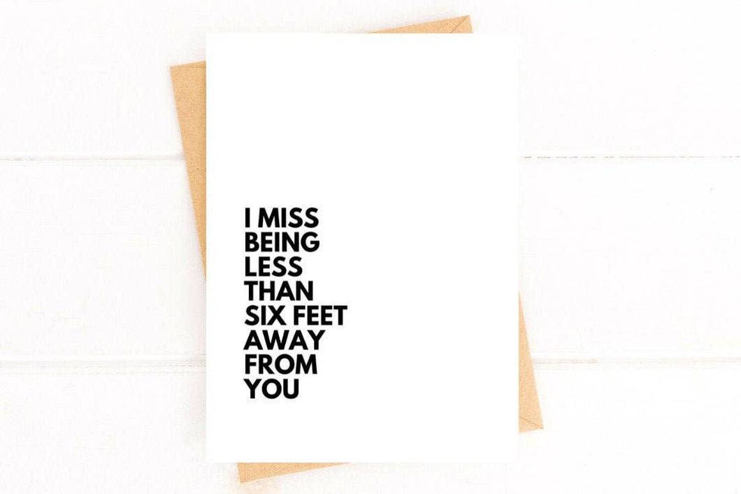 Social Distancing Card Miss You Card
