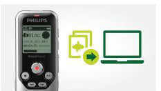 Philips DVT1250 Digital VoiceTracer from Speech Products UK with plug and play capabilities for Mac OS and Windows