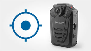 Philips VideoTracer Body Worn Camera DVT3120 - GPS Watermark - Speech Products