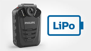 Philips VideoTracer Body Worn Camera DVT3120 - Rechargeable Battery - Speech Products