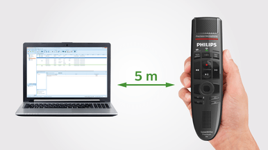 Philips SMP4000 SpeechMike Premium Air Wireless Desktop Dictation - patented lossless speech transmission - speech products