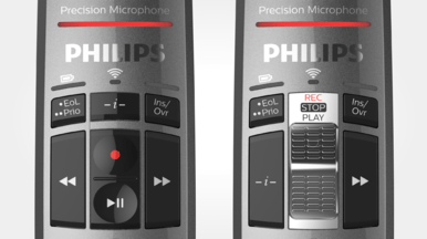 Philips SMP4000 SpeechMike Premium Air Wireless Desktop Dictation - wear free slide switch or push buttons - speech products