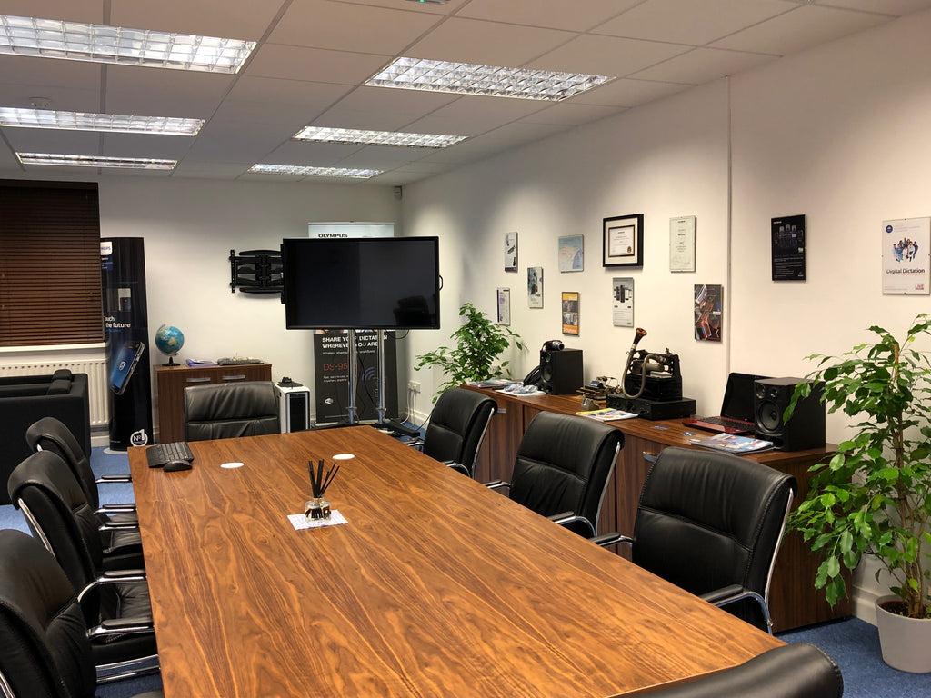 Speak-IT Solutions - fully fitted boardroom and demonstration facility for customers to experience the latest innovations in voice technology and speech processing