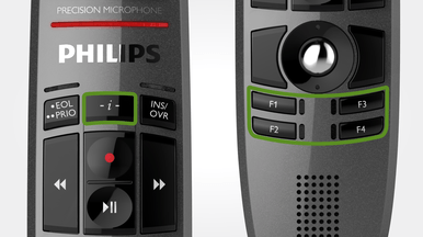 Philips LFH3510 SpeechMike Premium - Desktop Dictation Device for use with Speech Recognition Packages including Nuance Dragon Pro 15.4