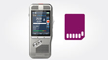 Philips DPM8900 Conference and Meeting Recording Kit with Exchangeable SD Memory Card