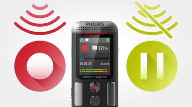 Philips DVT2710 Voice Activation for Hands Free Recording