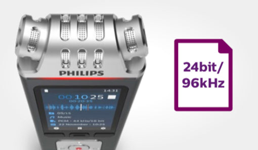 Philips DVT8110 24 bit 96Khz quality recording