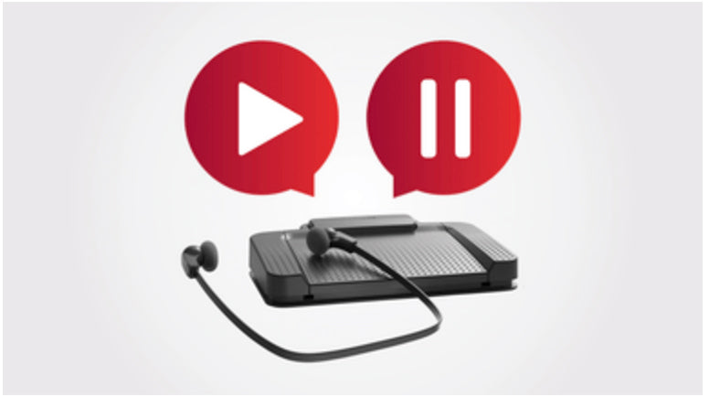 Philips SpeechExec Enterprise LFH7377 foot control for hands free transcription and playback