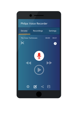 Download the Philips Voice Recorder App for iOS and Android via the Google Play Store or the App Store