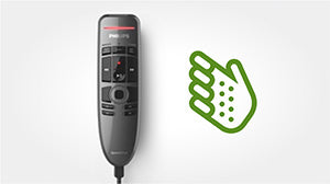 Philips SpeechOne Remote Control Ergonomic Design