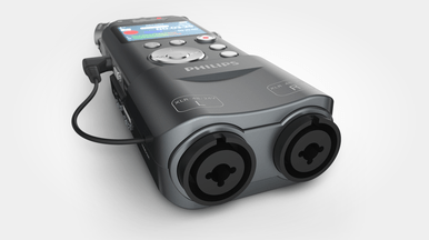 Philips DVT7500 Digital Audio & music Recorder XLR Line-in inputs for external sound sources