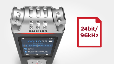 Philips DVT6110 24 bit / 96 khz audio recording quality