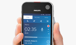 Philips SpeechAir Smart Voice Recorder (PSP1100) - Wear free slide switch - Speech Products