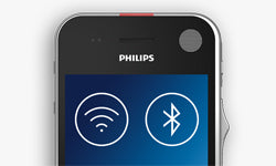 Philips SpeechAir Smart Voice Recorder (PSP1100) - WiFi LAN USB and Bluetooth connection file transfer - Speech Products
