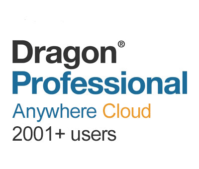 Dragon Professional Anywhere Cloud 2001+ Users - Speech Products