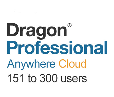Nuance Dragon Professional Anywhere Cloud 151 to 300 Users - Speech Products