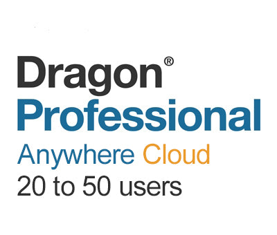 Nuance Dragon Professional Anywhere Cloud 20 to 50 Users - Speech Products